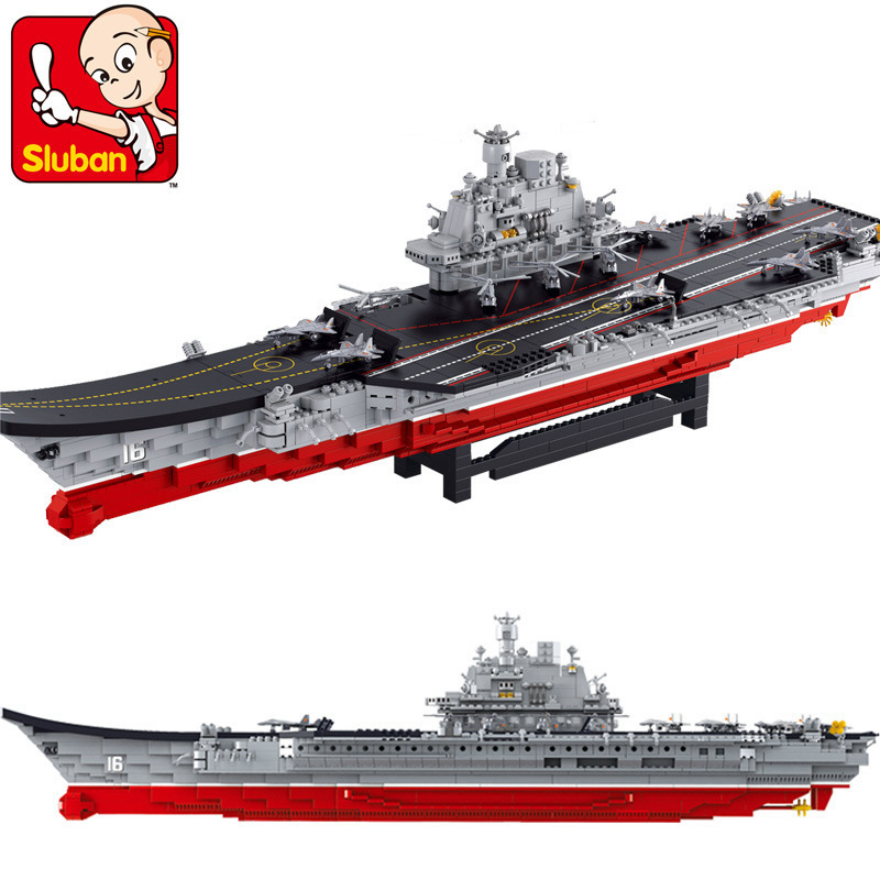Building Block Sets Compatible lego aircraft carrier military 1:350 3D Construction Brick Educational Hobbies Toys Kids - JENS store