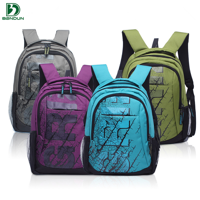 2016 New Grizzly Russian Children Backpack Student School Bags Pattern Printed Shoulder Mochila for Girls Kids(China (Mainland))
