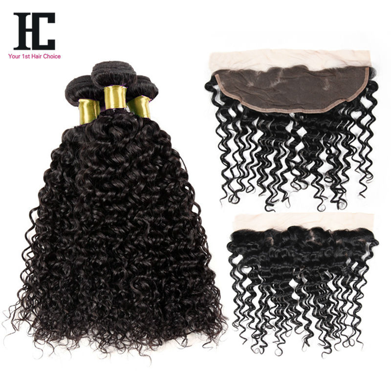 Newest 13x4 Lace Frontal With Bundles Grade 7A Brazilian Curly Virgin Human Hair Curly Soft 2 Bundles With Closure Lace Frontal<br><br>Aliexpress