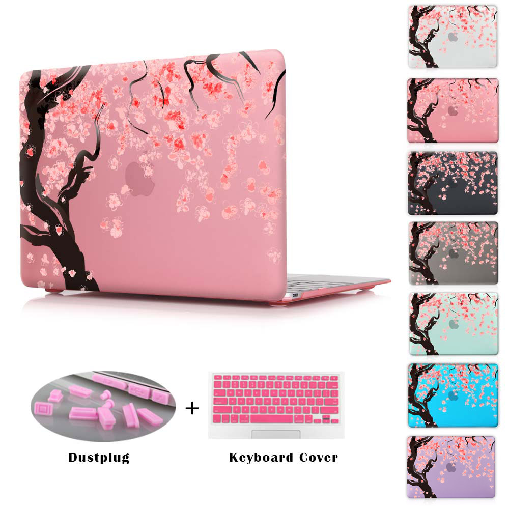 Cherry Tree Blossom Laptop Clear Case For Air 11 13 Print Hard Cover For Macbook 12 Pro 13 15 & Retina 13'' 15'' Shell(China (Mainland))