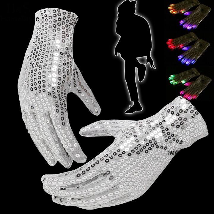 7 Mode Light Up Finger Lighting LED Rave Flashing Sequins Gloves Magic stage property wholesale & drop shipping(China (Mainland))