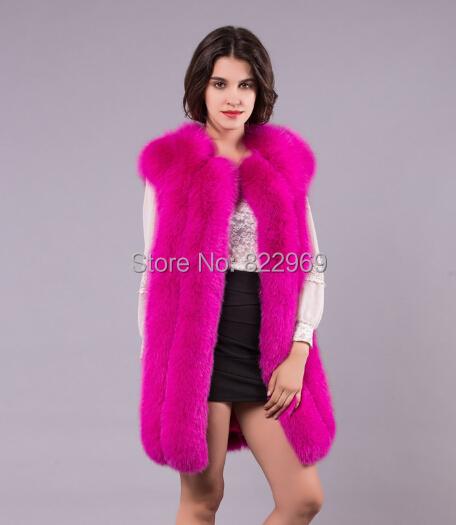 Вся-кожа лисицы жилеты роскошный меховой жилет жилет марка зима желеты меховой жилет BF-V0012