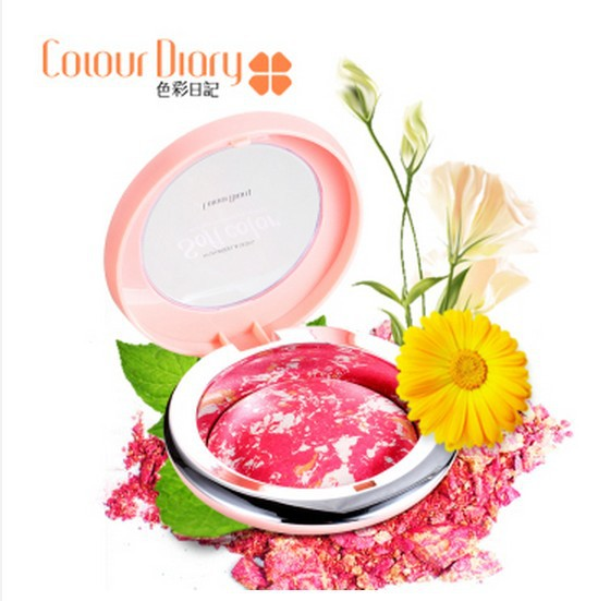 1 piece Korean Makeup Highlighter Blush Face Blusher Powder Palette Cosmetics Magic Soft Color 6 Colors choose S0003 - Beauty Young store