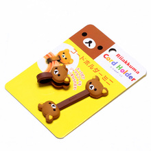 2x Rilakkuma Bear Cord Holder,Relax Bear Headphone Earbud Cord Winder Holder Free shipping 8213(China (Mainland))