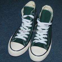 Мужская мужчины женщины высокого верха холст классический свободного покроя кроссовки темно-зеленый обувь