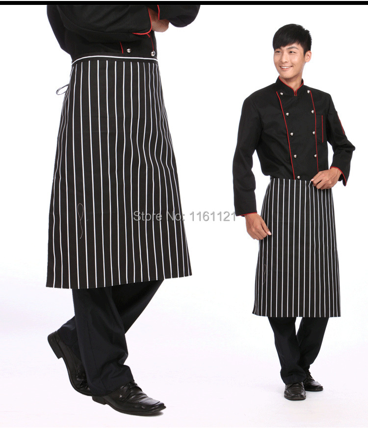 Sushi Chef Jacket Real 2015 Rushed Sale Men Restaurant Uniform Unisex Or Home Canteen Stripe Pattern Chef Apron Free Freight(China (Mainland))