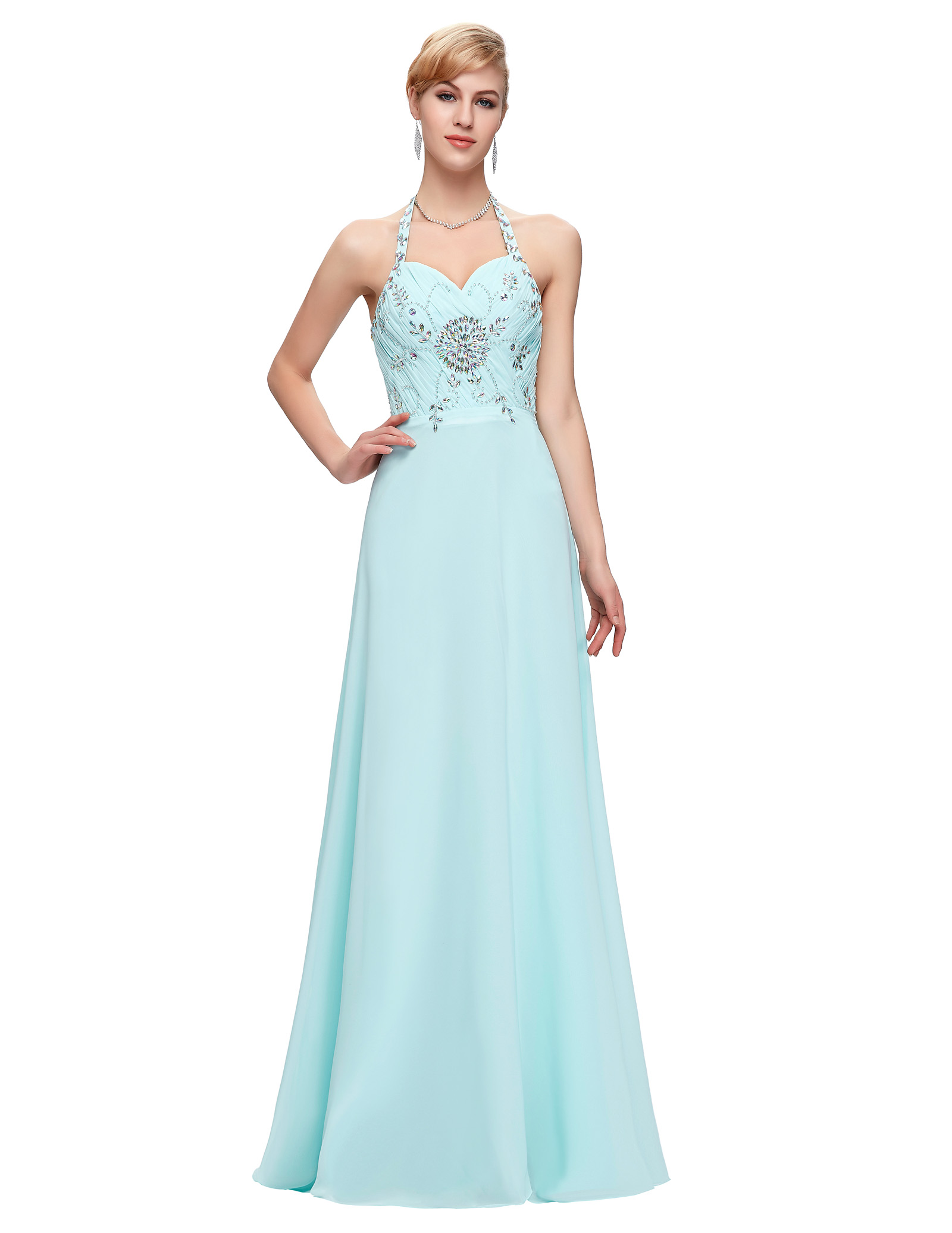 Ice blue prom dresses - Dressed for less