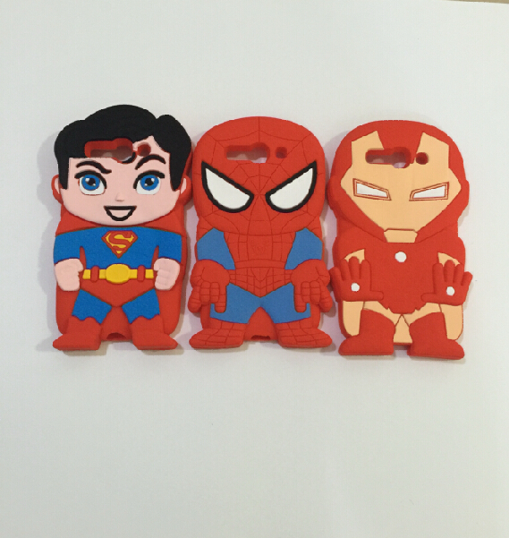 3D Super Hero Superman Spider-man Iron man Soft Silicone Rubber Cover Case Alcatel One Touch Pop C9 OT 7047D - ALEX ZHOU Store store
