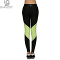 Spring Autumn Women s Sport Leggings Yoga Pants Active Patchwork Mid Waist Elastic Gym Fitness Workout