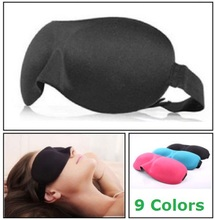 1 PCS HOT SALE 3D Portable Soft Travel Sleep Rest Aid Eye Mask Cover Eye Patch Sleeping Mask Case(China (Mainland))
