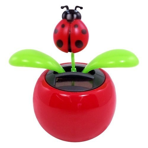 Hot Selling Solar Powered Dancing Lady Bug Flower Great as Gift(China (Mainland))