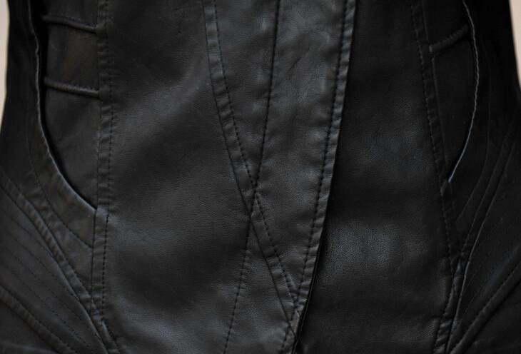 Брендовые Кожаные куртка женщин пальто роскошные кожезаменитель пальто мотоцикл женщин куртка мода весна пальто hb-24