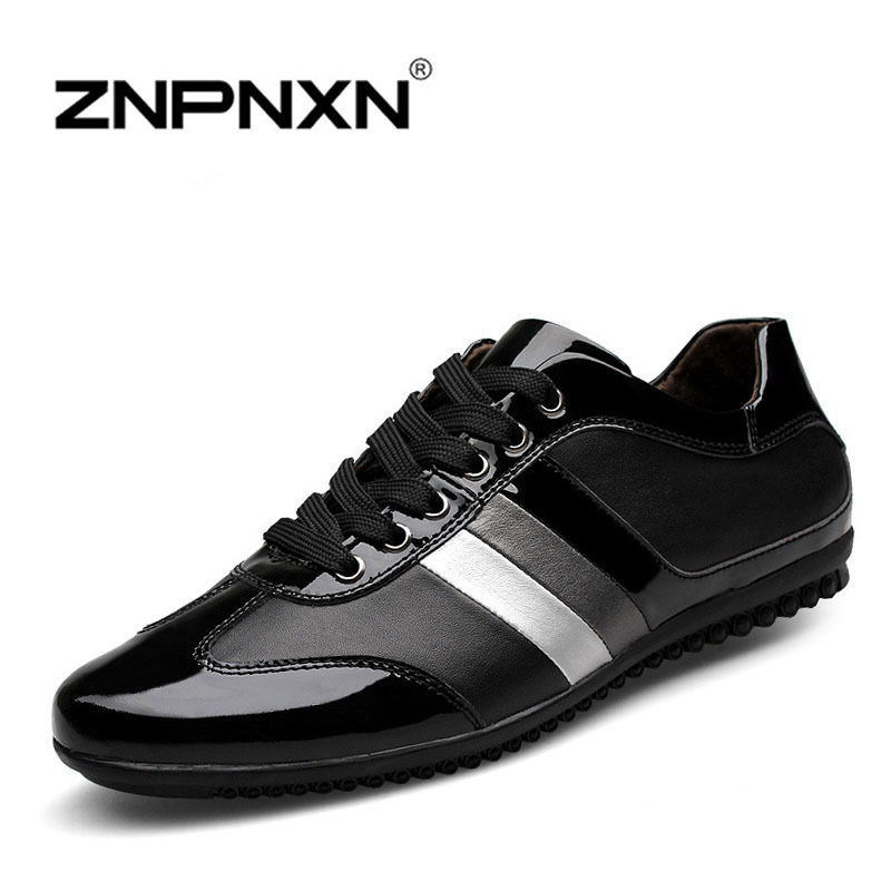 Genuine Leather Men Shoes 2015 Fashion Mens Sneakers Casual Lace Flats Loafers zapatillas Zapatos hombre sapatos
