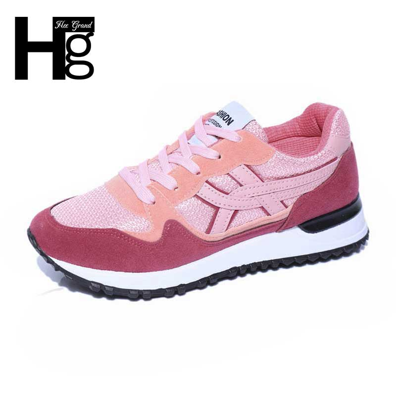 2016 New Women' Casual Shoes  Breathable Lace-up Women Flat Shoes Height Increasing Shoes Woman Spring & Autumn XWD3396