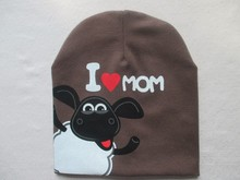 2015 Lovely Baby Boy&Girls Hat Autumn and winter Keep warm Multi style&Multi color Cartoon Smiling cow I love papa mama baby hat(China (Mainland))