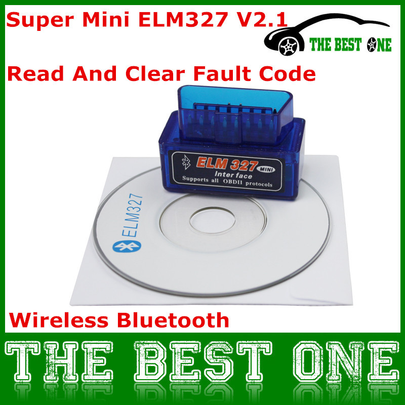 Super Mini Elm327 Bluetooth V2.1 Interface ELM 327 OBD2 / OBD II Universal Auto Diagnostic Scanner Works On Android / Windows(China (Mainland))