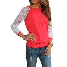 Buy 2017 Spring Long Sleeve Blouse Women Tops White Crochet Lace Patchwork Blouses Casual Tunic Shirts Blusas Femininas Camisas XXL for $4.10 in AliExpress store