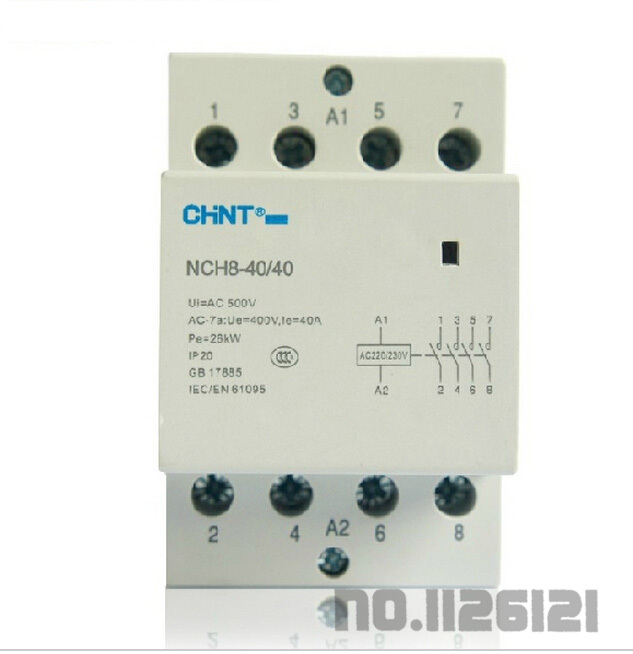 Special promotion Chint small household AC contactor NCH8-40 / 40 40A AC220V / 230V AC24V Free shipping<br><br>Aliexpress