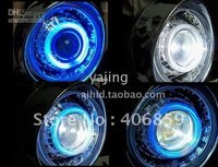 Wholesale - Motorcycle headlight assembly Kits with Bi-Xenon HID Projector Lens LED Angle Eyes
