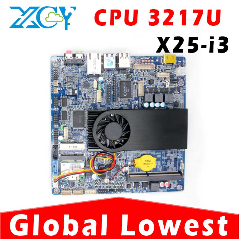 MINI ITX motherboard Intel ITX Mainboards motherboard with cpu 3217U with small fan 1*HDMI,4*USB intel 3217u core dual 1.8GHz(China (Mainland))