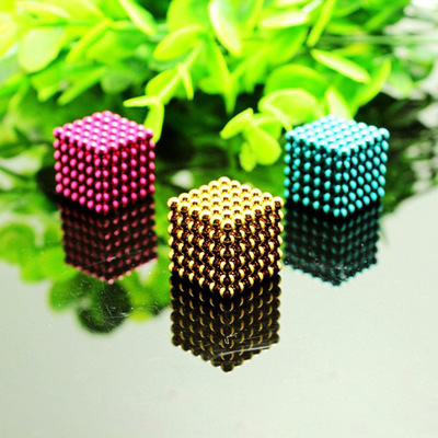 5mm 216pcs Metaballs Magnetic Balls Magnet Puzzle Block Neo Cube Magic Toys Magic Cube +Metal colour Box+Card For Gift C0A738(China (Mainland))