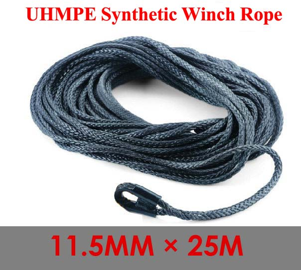 11.5mm x 25m Winch Rope Synthetic Winch Cable For 4WD/ATV/UTV/SUV(China (Mainland))