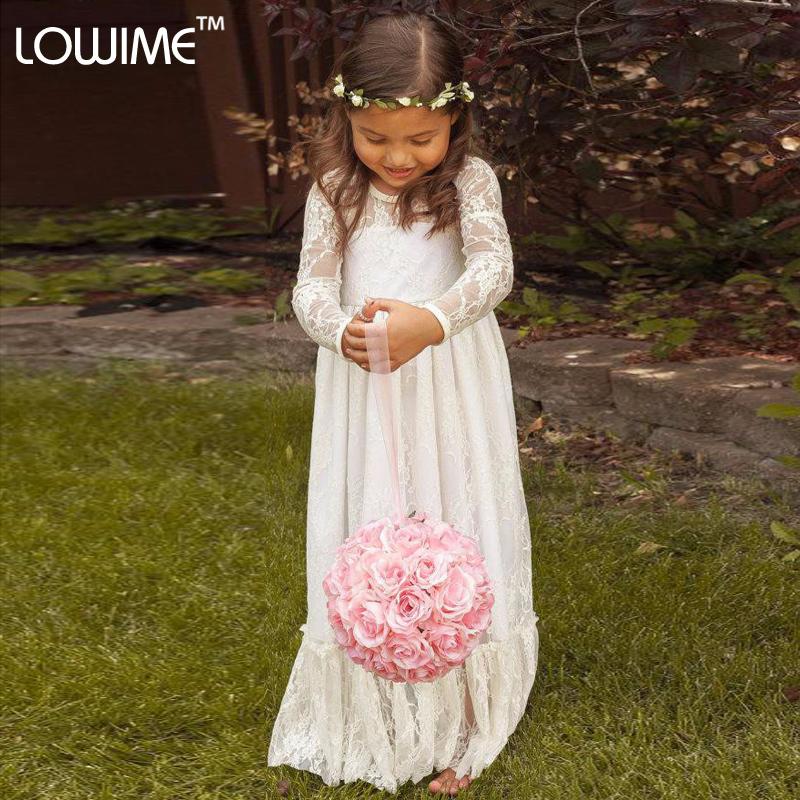 Flower girl robes ivoire