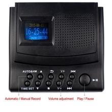Mejor Monitor de Llamada de Teléfono Grabadora Digital de Voz Teléfono Grabadora Grabadora de Sonido con Pantalla LCD + Identificador de llamadas + Reloj Y4308