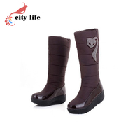 Waterproof Ladies Winter Snow Boots,Classic High Top Feather Women Boots,Discount 2015 Female Nylon Plush Shoes Woman