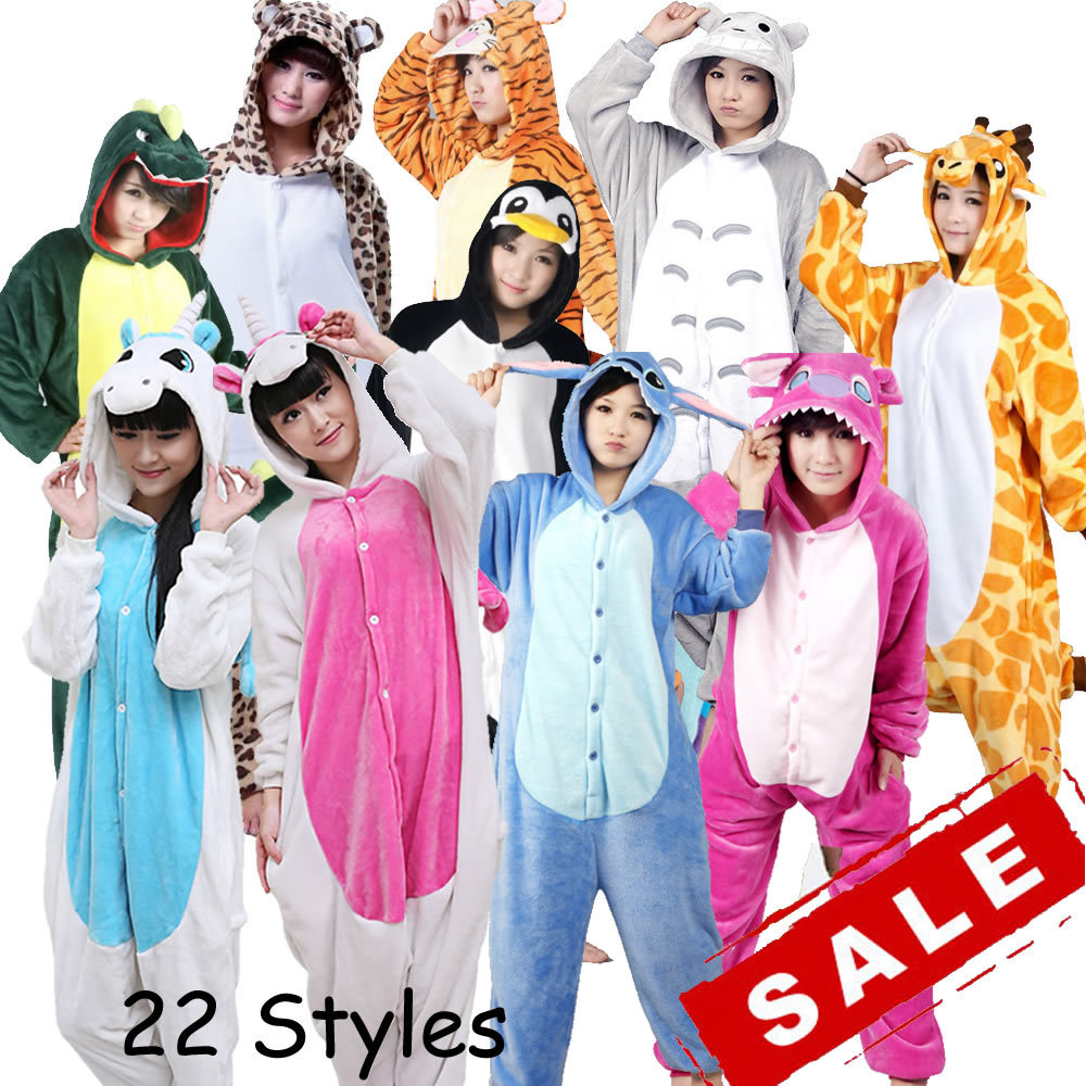 Wholesale Unicorn Stitch Panda Unisex Flannel Hoodie Pajamas Costume Cosplay Animal Onesies Sleepwear For Men Women