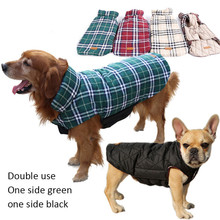Luxury Dog Clothes Winter Reversible Jacket Plaid Designer Clothes for Dog Puppy Large Dog Warm Pets Jacket Coat Costume Coats