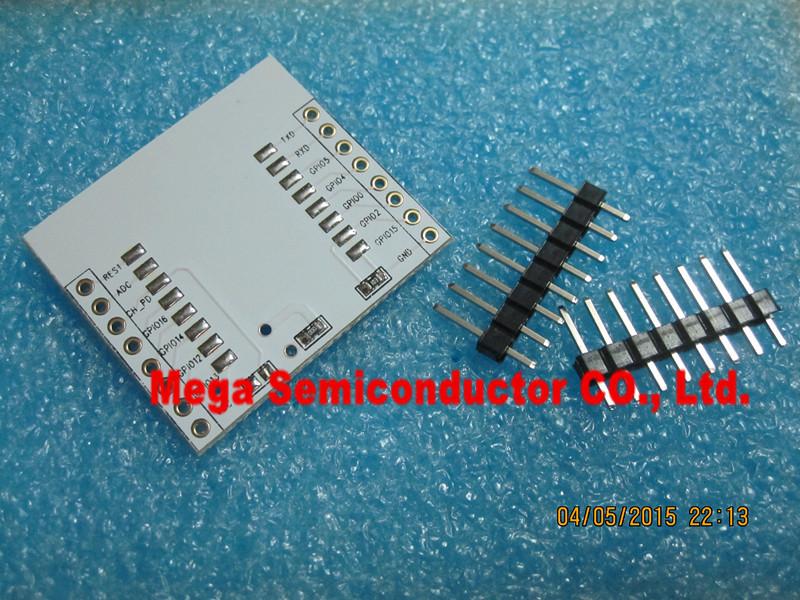 Гаджет  10pcs/lot ESP8266 serial WIFI module adapter plate Applies to ESP-07, ESP-08, ESP-12 None Электронные компоненты и материалы