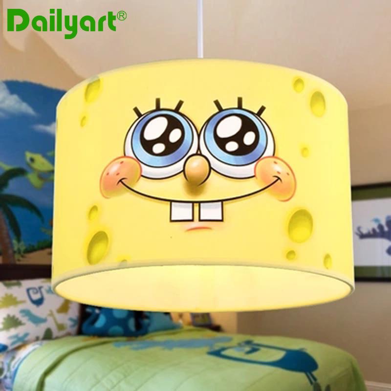 Фотография Children Ceiling lamp SpongeBob cute simple cartoon lighting boys and girls children