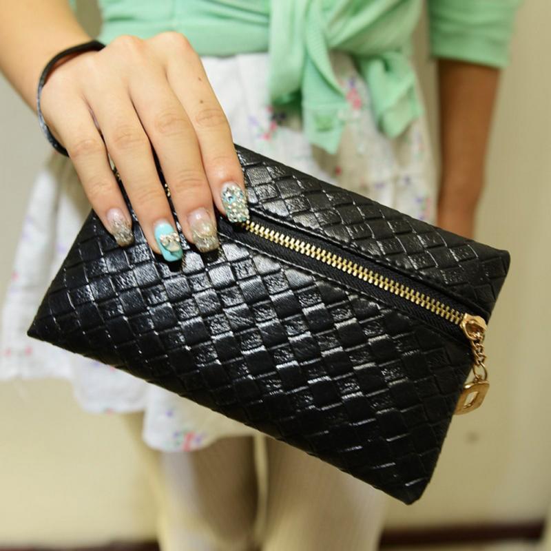 New Womens Fashion Black Handbag Faux Leather Sexy Evening Bag Purse Casual Mini Purse Card Holder