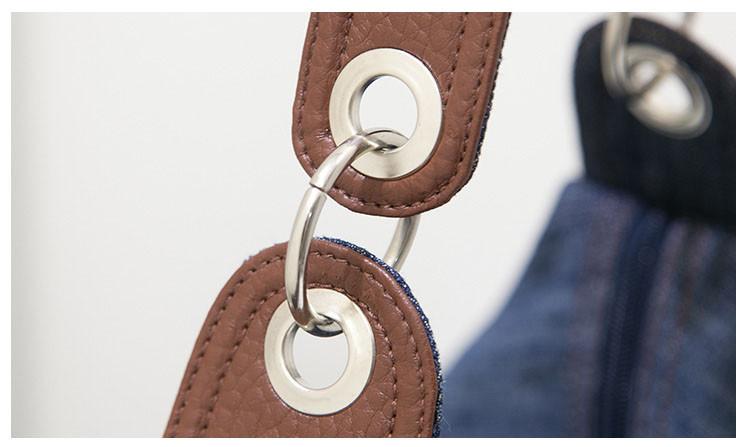 ซื้อ ขนาดใหญ่หรูหรากระเป๋าถือผู้หญิงกระเป๋าออกแบบผู้หญิงกระเป๋าใหญ่กระเป๋าฌองสิริกระเป๋าสะพายผ้ายีนส์C Rossbody Messengerของผู้หญิงกระเป๋า