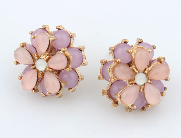 Mamojko Jewelry Fashion jewelry Vintage Round Flower Crystal Stud Earrings Woman New 2014 Gift - Store store