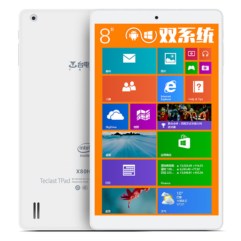 Teclast X80H X80HD Dual Boot 8 Inch Z3735F Windows 8 1 Android 4 4 Tablet PC