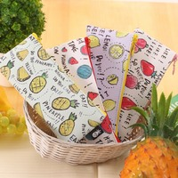 Colorful Fruit Pencil Bag Kawaii Pineapple Cute Strawberry Pencil Case Multifunctional Escolar Stationery For Children Gift