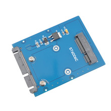 Новой slim-типа мини-pci-e mSATA SSD в 2.5 » SATA 3.0 22pin HDD адаптер жесткий диск PCBA SA-166