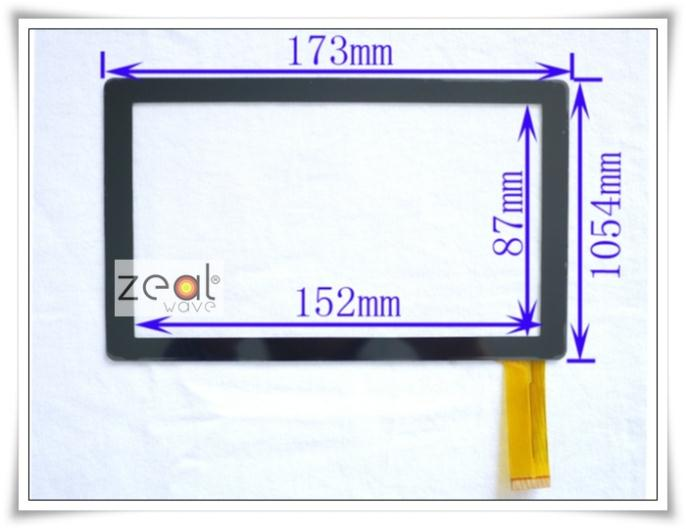 """7"""" 7Inch Capacitive Touch Screen Digitizer Glass Replacement for Guanbai Tablet PC Allwinner a13 BG830 Q88(China (Mainland))"""