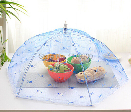Food Covers Umbrella Style Anti Fly Mosquito Kitchen cooking Tools meal cover Hexagon gauze table food cover(China (Mainland))