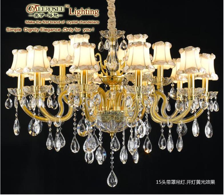 2015 Real Chandelier Crystal European Style Massive Chandelier Light Chandelir Lampshades Candle Lighting With 18 Lamps Md9509(China (Mainland))