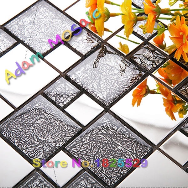 black and silver tile kitchen backsplash glossy matel tiles manufacturers stainless steel mosaic bathroom wall(China (Mainland))