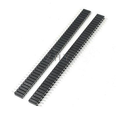 2.54mm Pitch Straight 40 Pins IC Socket Connector 2 Pieces(China (Mainland))