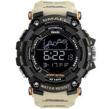 Mens Relógio Militar resistente à Água SMAEL Exército relógio Do Esporte led Digital Cronômetros para o sexo masculino 1802 relogio masculino Relógios de pulso(China)