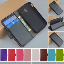 Flip Original Leather Case For Samsung Galaxy Ace 2 i8160 8160 Gt-i8160 Cover Business style Original J&R Brand phone cases