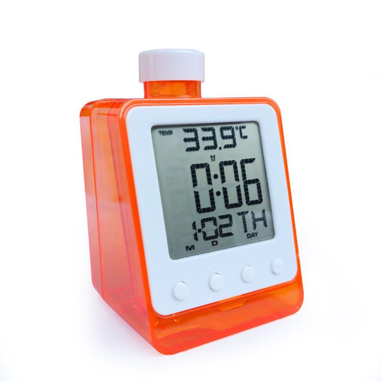desktop alarm clock runs solely tap water Temperature, Water-Powered Digital Alarm Clock - weiliang jing's store