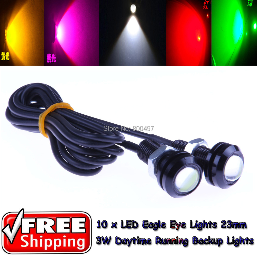 10 x18mm Black Frame LED Eagle Eye Lights Daytime Running Tail Backup Turn Signal Corner Stop Parking Reverse - Elifestyle Zone Co., Ltd. store