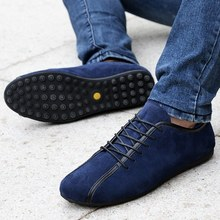 Aleader Nubuck Leather Men Shoes Spring Male Casual Shoes New 2015 Fashion Leather Shoes Loafers Men's shoes Flats zapatillas