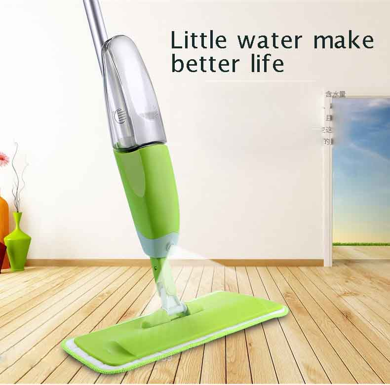2018 hot seller Spray water  Mop Aluminium Pole Microfiber 360 degree Multifunction rotate mop Household Floor Cleaning Tools